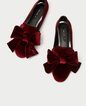 velvet loafers with bows
