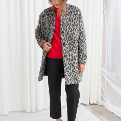 & Other Stories Leopard Boxy Coat £159