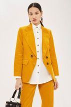 Topshop Coduroy Double Breasted Blazer 65.00